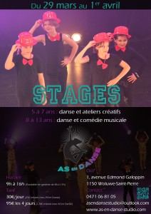 Stage de danse école de danse Bruxelles Woluwe