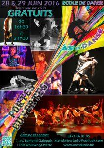 Portes ouvertes école de danse Bruxelles Woluwe